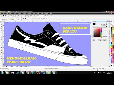Download Video Cara desain Sepatu sendiri menggunakan Corel Draw