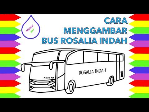 Download Video Cara menggambar BUS ROSALIAN INDAH yang mudah | Nawa Art belajar mengambar dan mewarnai