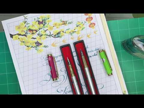 Download Video Giới thiệu dòng bút Calligraphy Sh 040 Bút Thầy Ánh