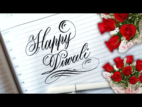 Download Video How to Write Stylish Happy Diwali Writing in Copperplate Script calligraphy