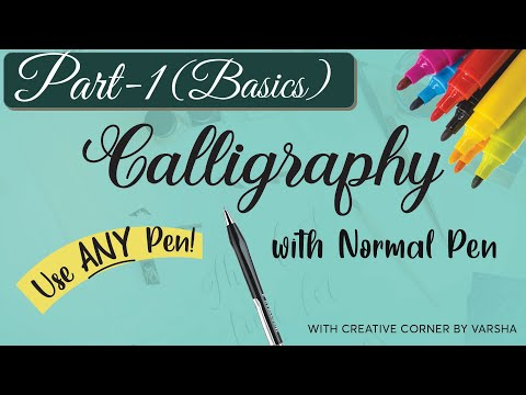 Download Video calligraphy with normal pen 2020 Part 1|How to do Faux Calligraphy for Beginners | Faux Calligraphy