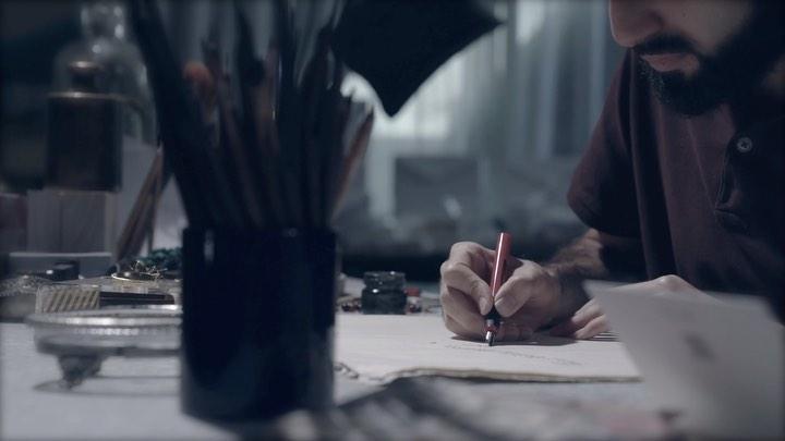 Karya Kaligrafi في يوم مقدمك الشريف استنارت الدنيا وابتهجت  يامن كنت للمسكين عوناً ولليتم اباً ….- jasssim Meraj