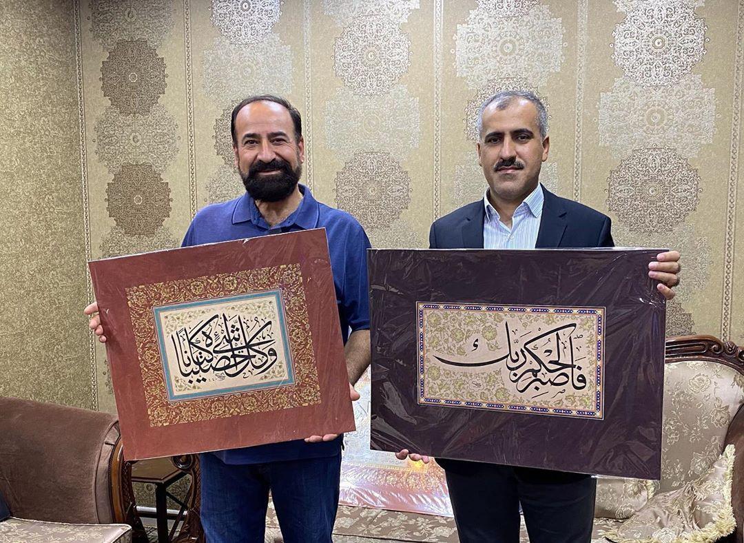 Professional Calligrapher Bijar Arbilly Calligraphy  مع ابن خالي العزيز پشتيوان مام خليل #calligraphy #kunst #art #tehran #istanbul #… 364
