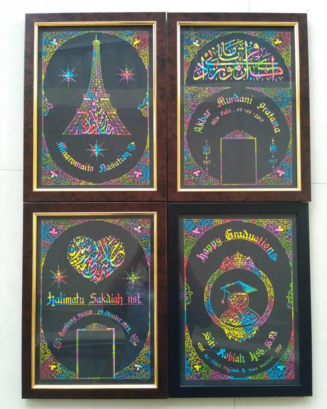 Works Calligraphy Taufik Hasibuan Kertas pelangi.... Come back... Hehe  Minat chat me....... 54 1