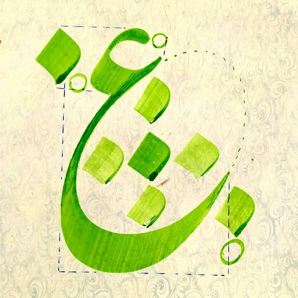 Download  Keindahan khat ta'liq ada pada ciri khas huruf-huruf dibawah ini.... 2