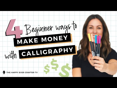 Download Video 4 Beginner Ways To Make Money With Your Calligraphy Skills (And Exactly How To Price Your Work!)