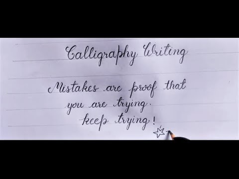 Download Video Calligraphy Writing | Pencil Calligraphy for beginners | Hand Lettering | handwriting Practice