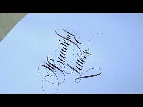 Download Video Copperplate calligraphy