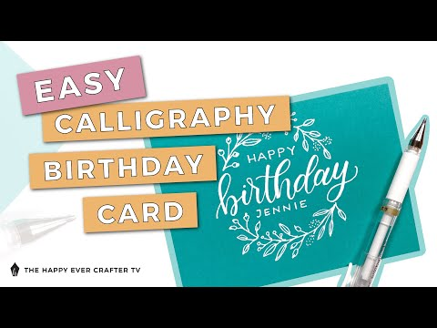 Download Video Easy DIY Calligraphy Birthday Card