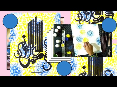 Download Video Easy Watercolor Background and Calligraphy by Khushi TV