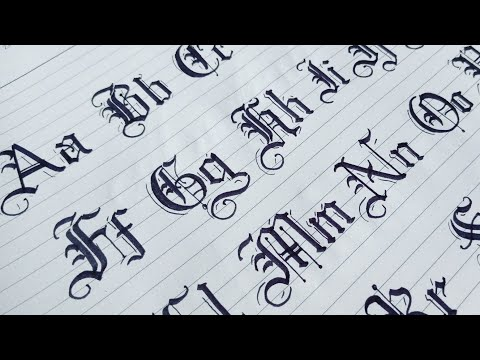 Download Video How to Gothic Calligraphy Capital and Small Letters From A to Z | Blackletters Calligraphy