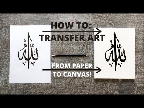 Download Video How to TRANSFER Arabic Calligraphy from Paper to Canvas | Qalb Calligraphy