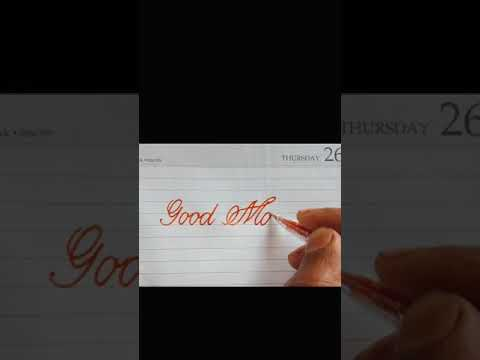 Download Video How to write Good morning in copperplate calligraphy | #Ruasignwriting |#Shorts
