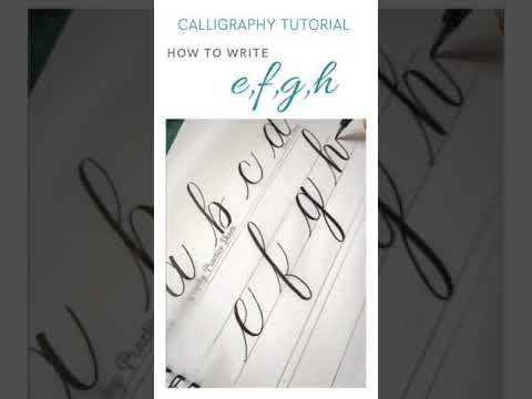 Download Video How to write letter with brush pen | Calligraphy Beginners Tutorial #shorts #calligraphytutorial