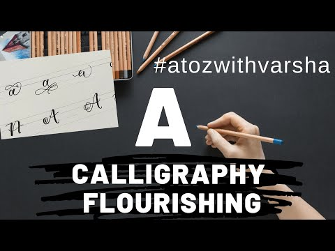 Download Video Letter A | Calligraphy letters atoz | Calligraphy for beginners