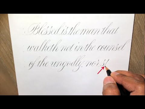 Download Video WRITING COPPERPLATE SCRIPT CALLIGRAPHY WITH A PENCIL | PAUL ANTONIO COPPERPLATE