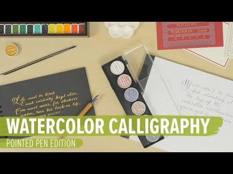 Download Video Watercolor Calligraphy For Beginners – Pointed Pen Edition
