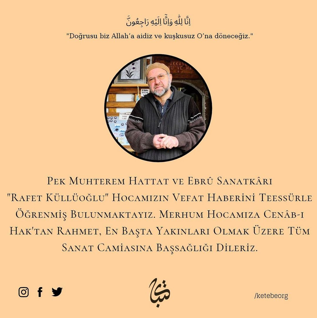 Apk Website For Arabic Calligraphy Hattat ve Ebrû sanatkârı Rafet Küllüoğlu Hocamız dar-ı bekâya irtihal etmiştir. … 615
