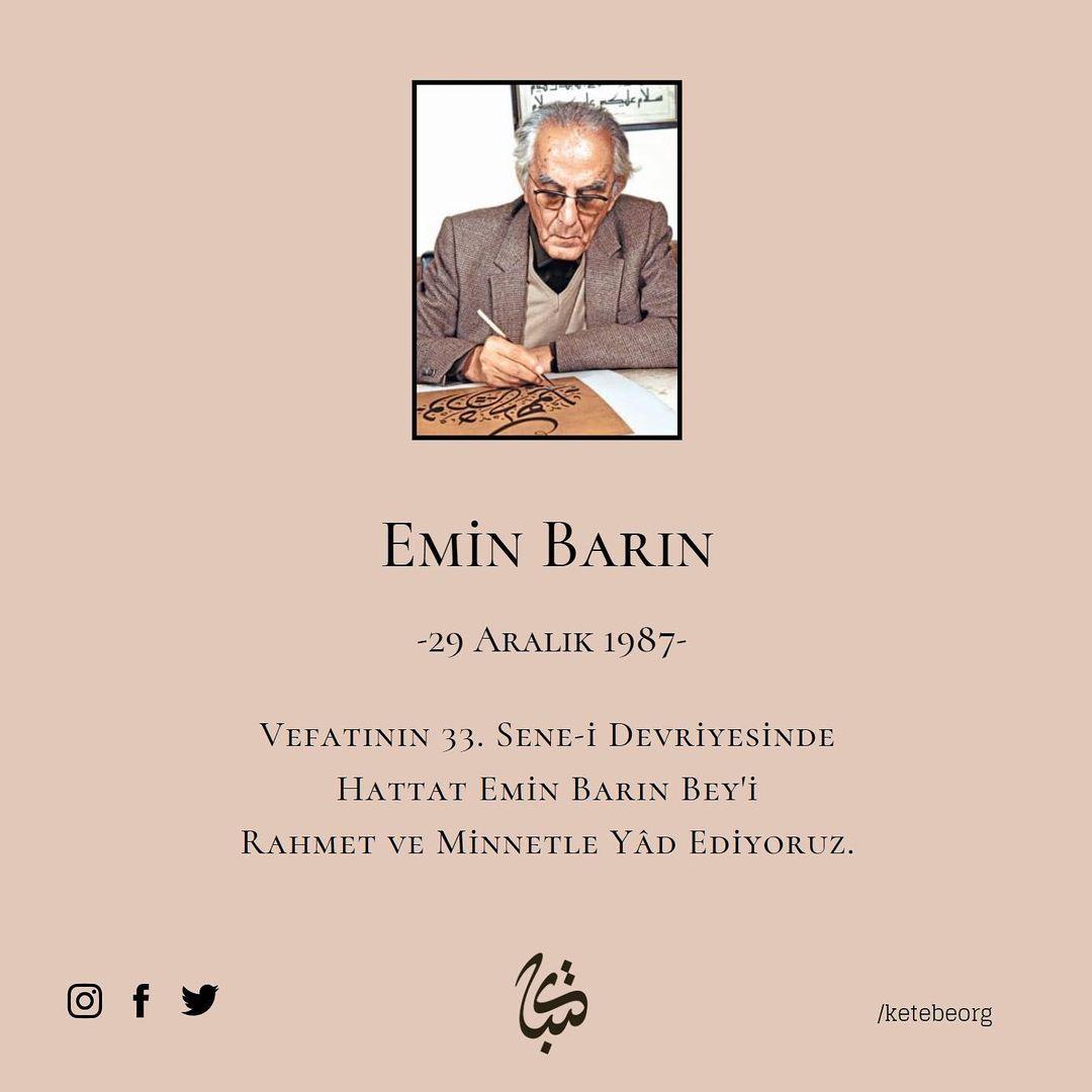 Apk Website For Arabic Calligraphy Vefatının 33. sene-i devriyesinde, Hattat Emin Barın Bey'i rahmet ve minnetle ya… 383