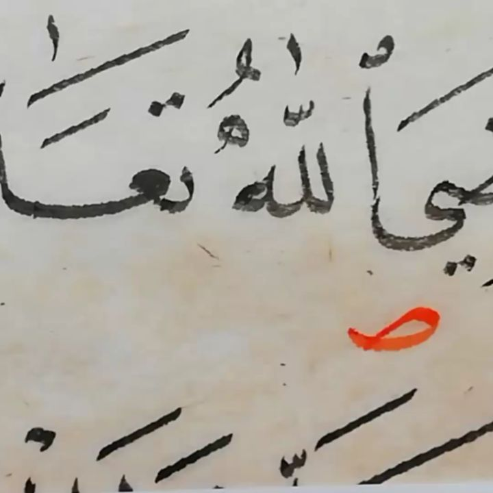 Arabic Calligraphy by Maulay Abdur Rahman  تصحيحات للطلبة… 336