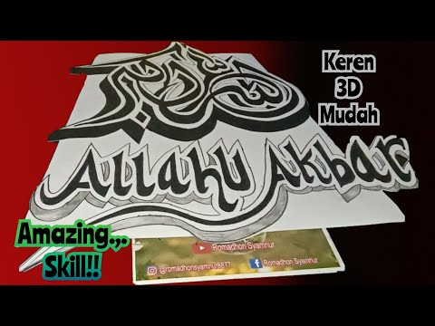 Download Video Amazing Skills …!! Kaligrafi 3d seperti berdiri