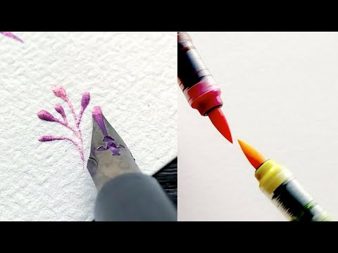 Download Video Amazing pen drawing calligraphy lettering and watercolor