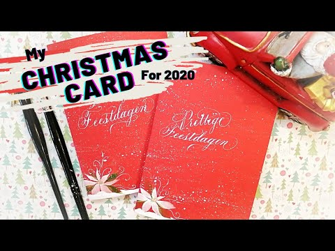 Download Video CALLIGRAPHY Christmas Card with Watercolor Decoration