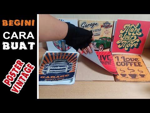 Download Video CARA BUAT POSTER KAYU VINTAGE UNTUK HIASAN DINDING (BISA JUGA UNTUK BISNIS)