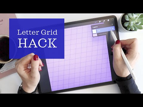 Download Video Calligraphy Letter Guide Hack in Procreate – Fast & Easy Custom Grids