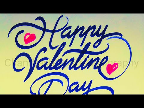 Download Video Calligraphy of Happy Valentine's Day