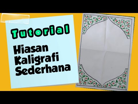 Download Video Cara Membuat Hiasan Kaligrafi Sederhana #1| kaligrafi