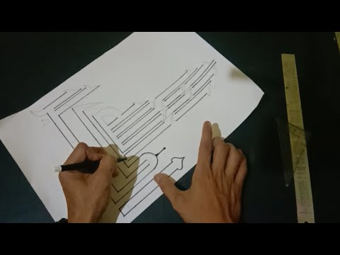 Download Video How to write and color a beautiful and cool 3d calligraphy lafadz Allahuakbar| kaligrafi 3d