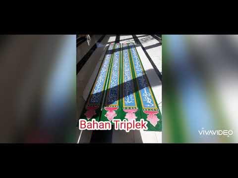 Download Video Kaligrafi dinding masjid bahan triplek