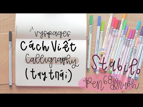 Download Video cách mình tập viết calligraphy (tay trái) |vyspages|