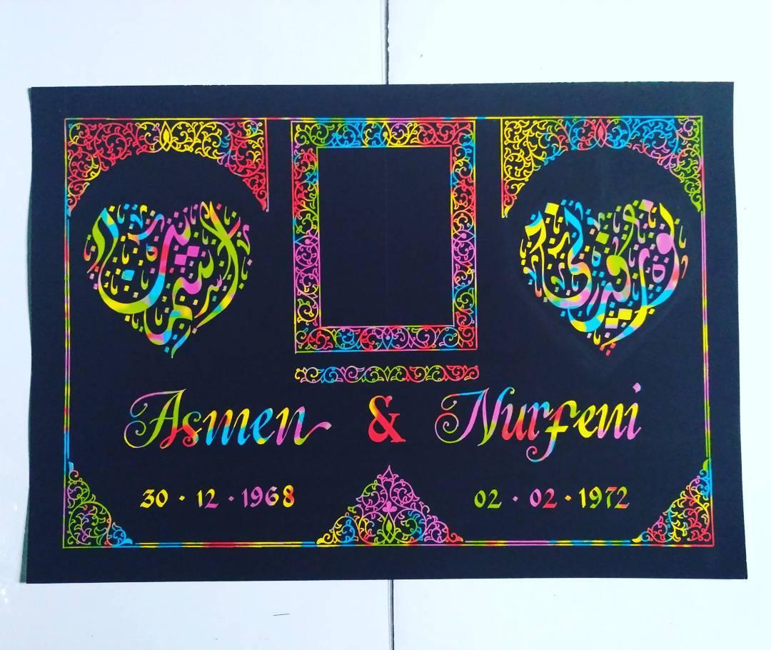 Works Calligraphy Taufik Hasibuan Next order…. Minat silahkan merapat…   #harga ekonomis insya allah… … 34