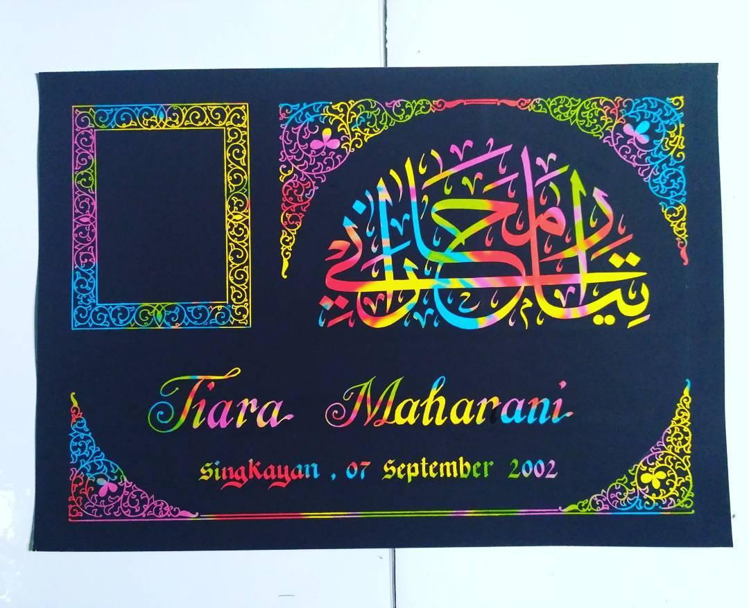 Works Calligraphy Taufik Hasibuan Next order…. !!! Minat silahkan merapat..  #kertas pelangi #tempahan nama kal… 28