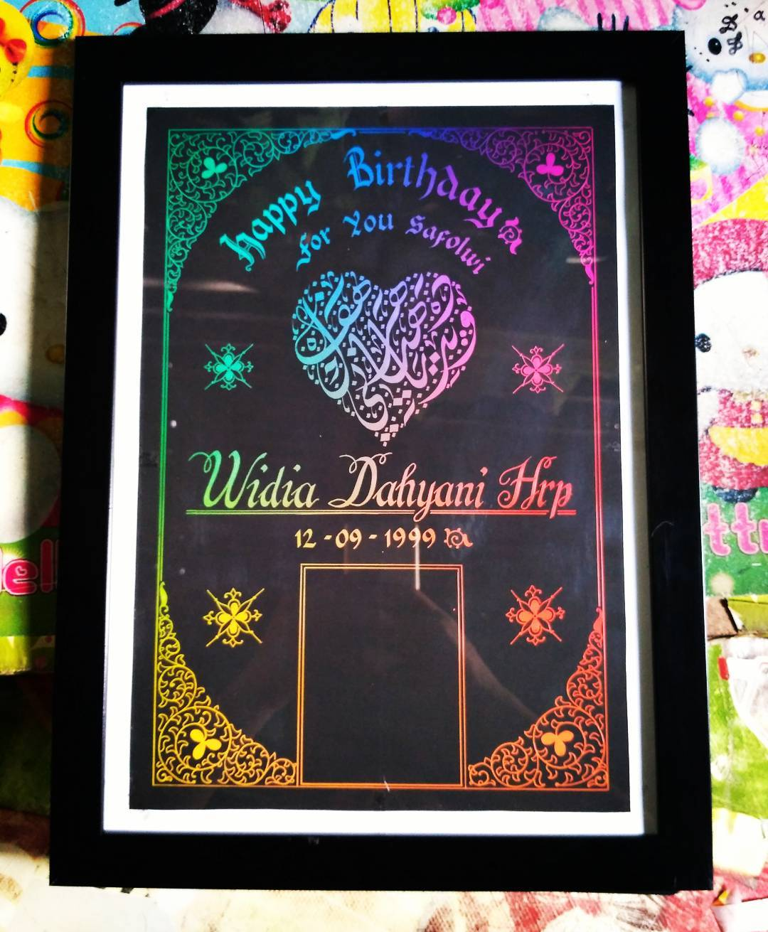 Works Calligraphy Taufik Hasibuan Next order…. Silahkn merapat yg minat…  #kertas pelangi media… … 32