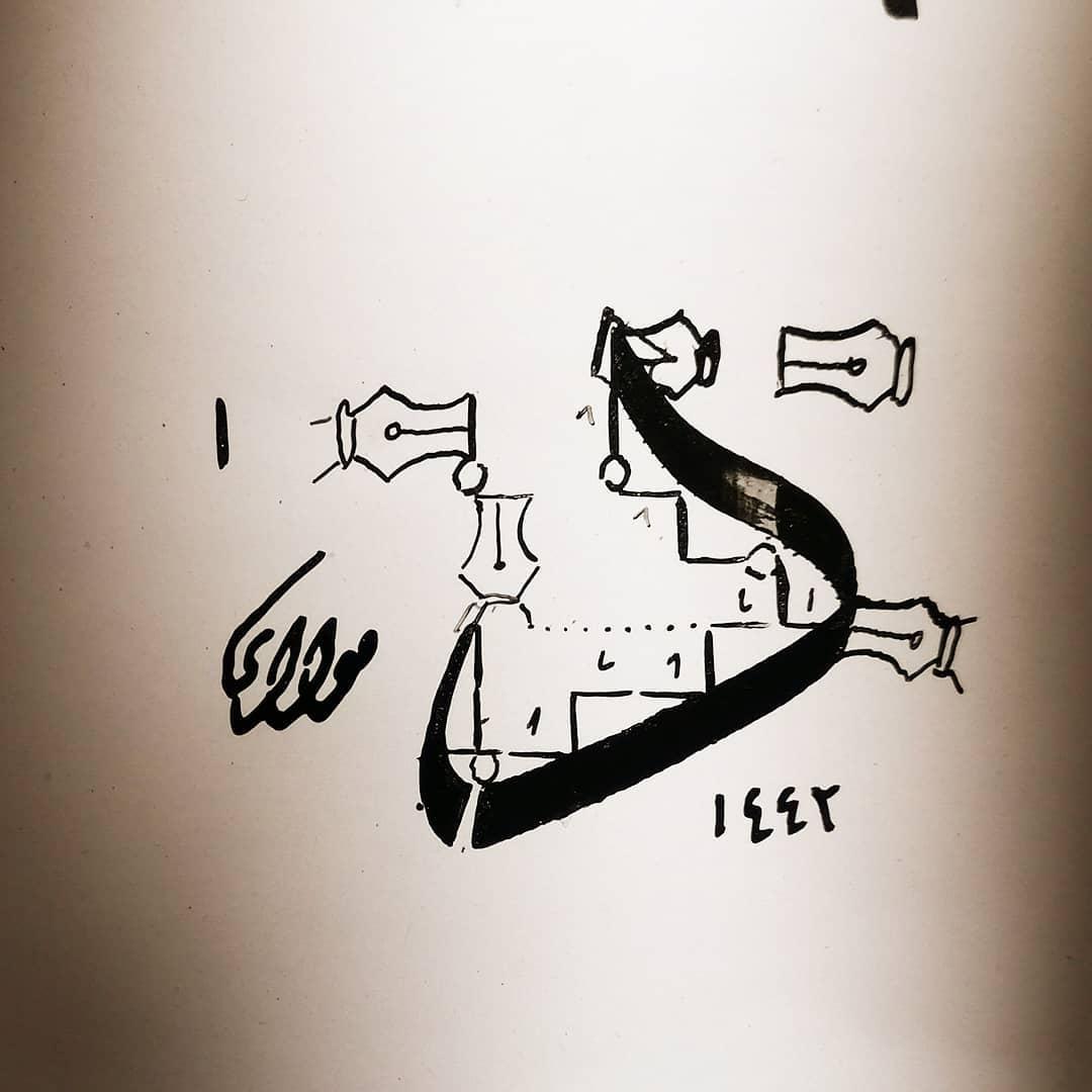 Arabic Calligraphy by Maulay Abdur Rahman  لعشاق خط الثلث.. قريبا (( الحساب الذهبي لحرف خط الثلث)) دعواتكم أحبتي… 776