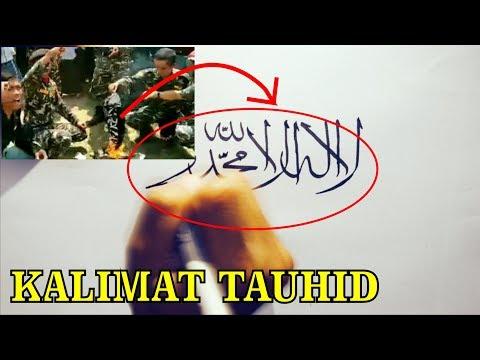 Download Video Inilah Kalimat TAUHID yang dib*kar – begini cara membuat tulisan kaligrafinya