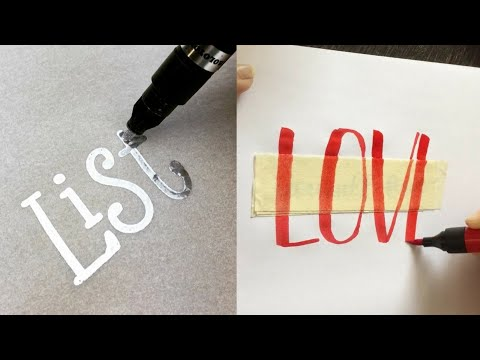 Download Video The best calligraphy and lettering very beautiful drawing with marker
