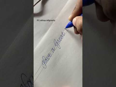 Download Video That's what you only need to start doing calligraphy.