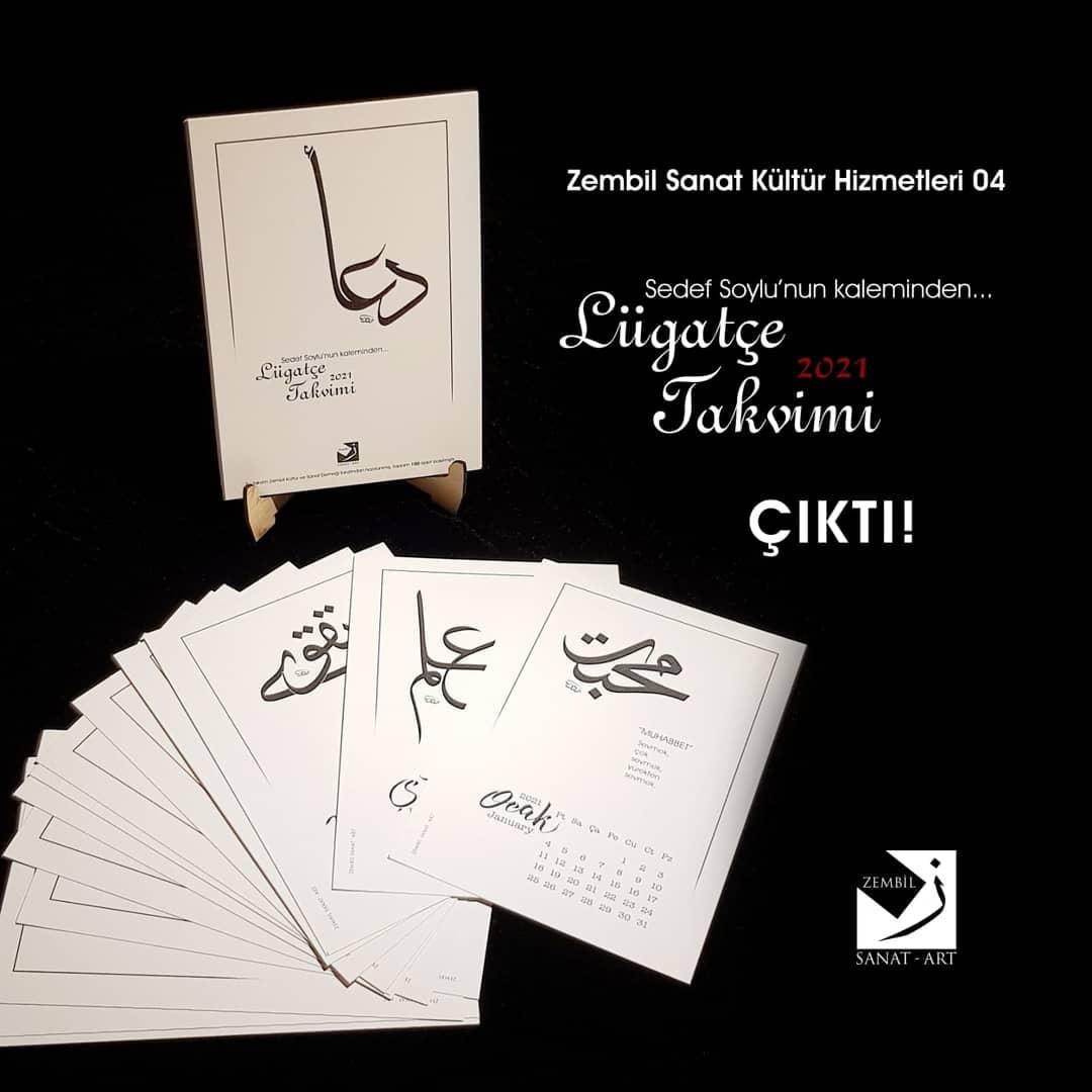 """Donwload Photo Zembil Sanat Kültür Hizmetleri 04 Sedef Soylu'nun kaleminden """"2021 Lügatçe Takv…- Zembil Sanat"""