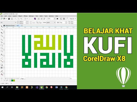 Download Video Cara Membuat Kaligrafi Khot Kufi di Coreldraw X8 | Speed Art (Part I)