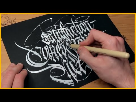 Download Video Super Satisfying Modern Fraktur Calligraphy x TheosOne | Calligraphy Masters