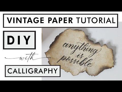 Download Video Vintage Paper DIY and Calligraphy for beginners | Easy Tutorial with Coffee