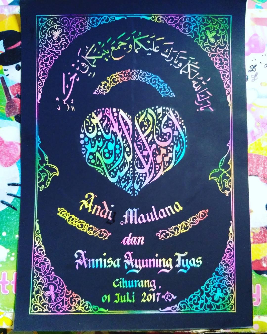 "Works Calligraphy Taufik Hasibuan Yg ingin mengabadikan moment"" pernikahan…. Boleh jg. … 43"