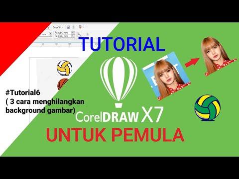Download Video Belajar Corel Draw X7 untuk pemula | #6 cara menghilangkan background gambar