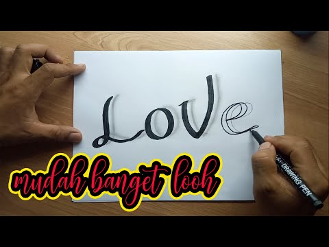 Download Video Belajar menggambar bayangan di tulisan dengan 3 pensil