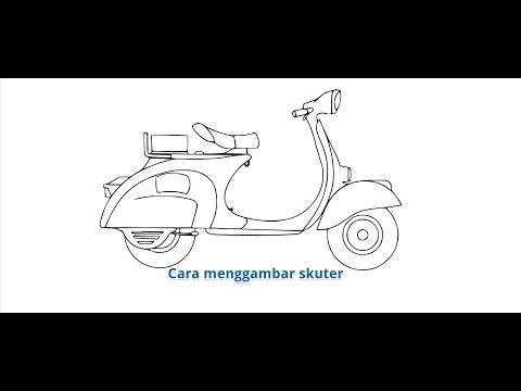 Download Video Cara menggambar motor skuter dengan pensil