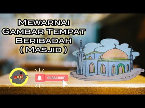Download Video Mewarnai ( Masjid ) || Mudah dan sederhana untuk anak belajar warani